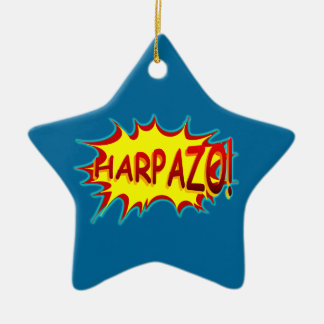 HARPAZO! (Rapture) Double-Sided Star Ceramic Christmas Ornament