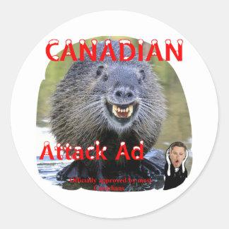 Harper Attack Ads Classic Round Sticker