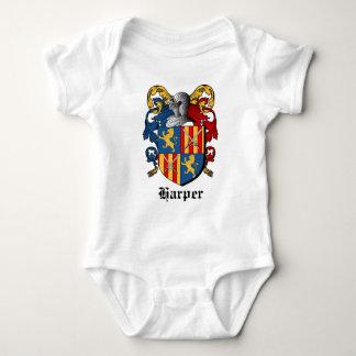 HARPER COAT ARMS - harper family crest Baby Bodysuit