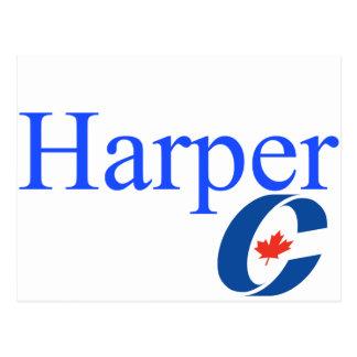 Harper Conservative Party Logo Postcard
