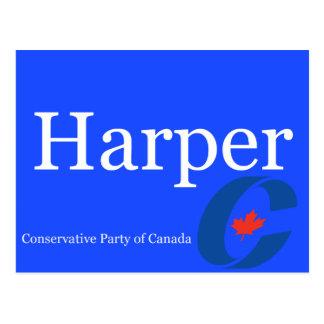 Harper Conservative Party of Canada Logo Postcard