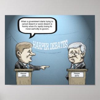 Harper Debates Only Harper, Still Loses. Poster