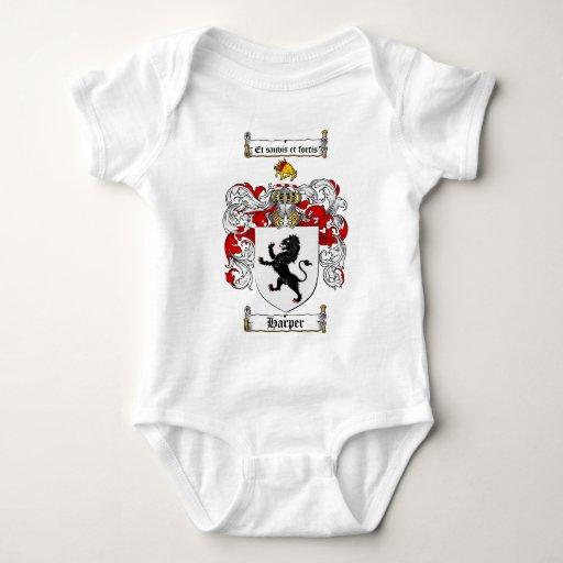 HARPER FAMILY CREST -  HARPER COAT OF ARMS BABY BODYSUIT