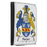Harper Family Crest Leather Trifold Wallets