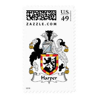 Harper Family Crest Postage Stamps