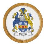 Harper Family Crest Round Cheese Board