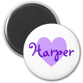 Harper in Purple Fridge Magnet