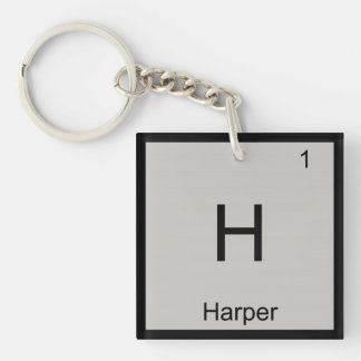 Harper Name Chemistry Element Periodic Table Keychain