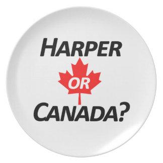 ¿Harper o Canadá? Mercancía Plato De Comida
