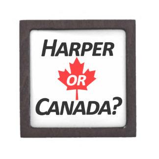 Harper or Canada? Merchandise Keepsake Box