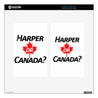 Harper or Canada? Merchandise Kindle Fire Skin