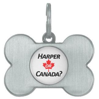 Harper or Canada? Merchandise Pet Name Tag