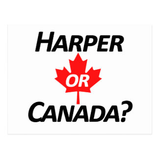 Harper or Canada? Merchandise Postcard