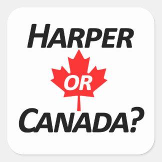 Harper or Canada? Merchandise Square Sticker