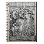 """Harper semanal"", invitaciones 1896 (l del navidad Libretas Espirales"