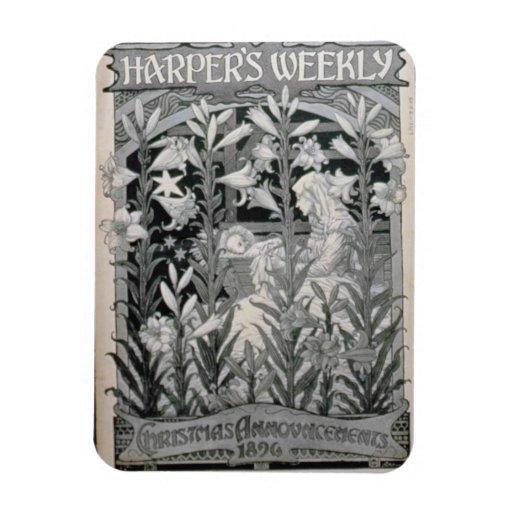 """Harper semanal"", invitaciones 1896 (l del navidad Imanes"