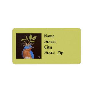 Harper the bluebird label