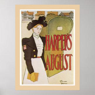 Harper's August poster