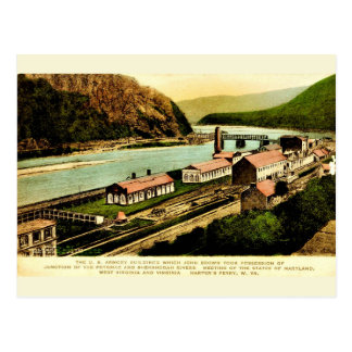 Harpers Ferry Armory Vintage Reproduction Postcard