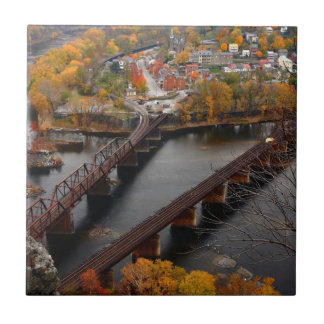 Harpers Ferry in the Fall Ceramic Tile