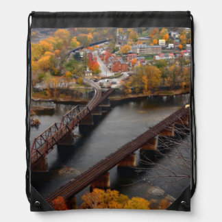 Harpers Ferry in the Fall Drawstring Bags