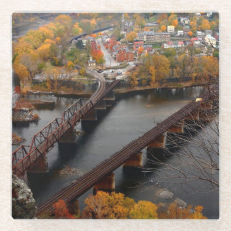 Harpers Ferry in the Fall Glass Coaster