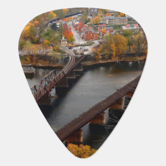 Harpers Ferry in the Fall Guitar Pick