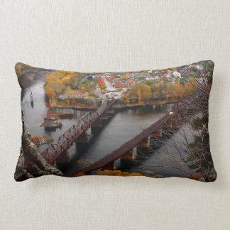 Harpers Ferry in the Fall Lumbar Pillow