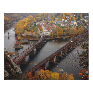 Harpers Ferry in the Fall Panel Wall Art