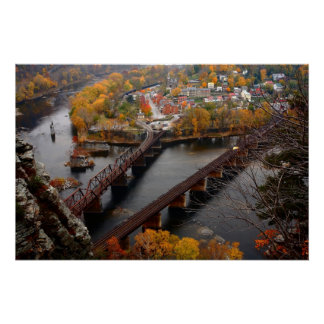 Harpers Ferry in the Fall Poster