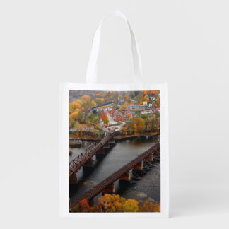 Harpers Ferry in the Fall Reusable Grocery Bags