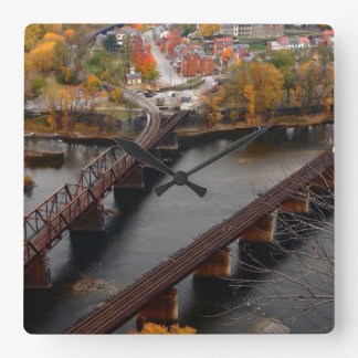 Harpers Ferry in the Fall Square Wall Clock
