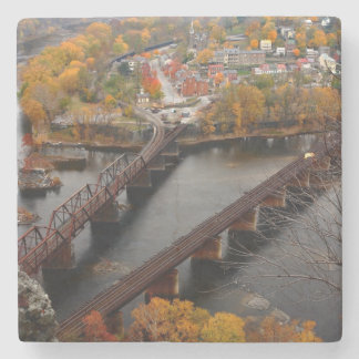 Harpers Ferry in the Fall Stone Coaster