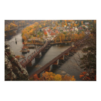 Harpers Ferry in the Fall Wood Wall Art