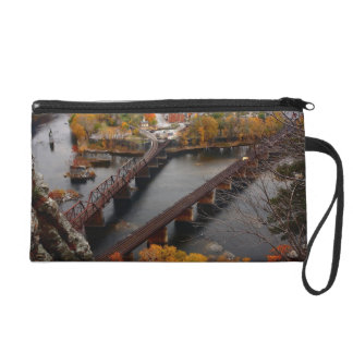 Harpers Ferry in the Fall Wristlet Clutches