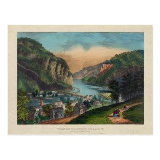 Harpers Ferry Jefferson County West Virginia 1859 Postcard