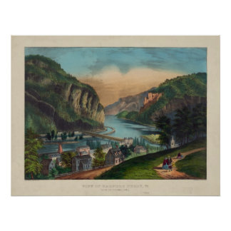 Harpers Ferry Jefferson County West Virginia 1859 Poster