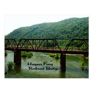 Harpers Ferry railroad Bridge Postcard