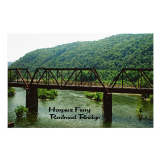 Harpers Ferry railroad Bridge Customized Stationery