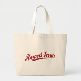 Harper's Ferry script logo in red distressed Canvas Bags