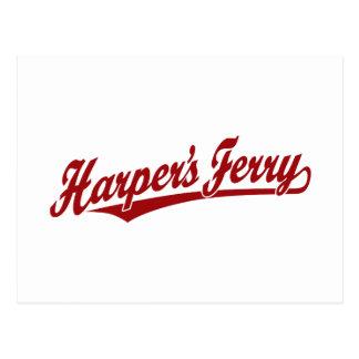 Harper's Ferry script logo in red Postcard