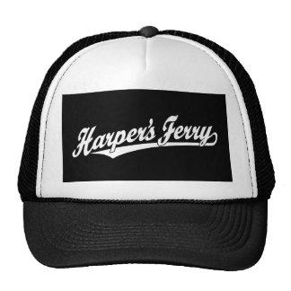 Harper's Ferry script logo in white Trucker Hat