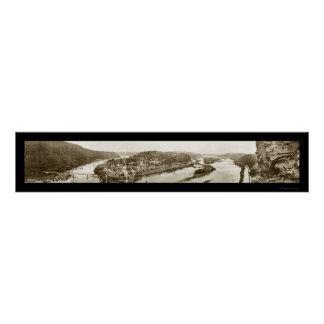 Harpers Ferry WV Photo 1912 Poster