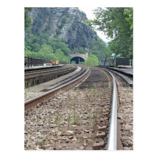 Harpers Ferry WV Railroad Tracks Postcard