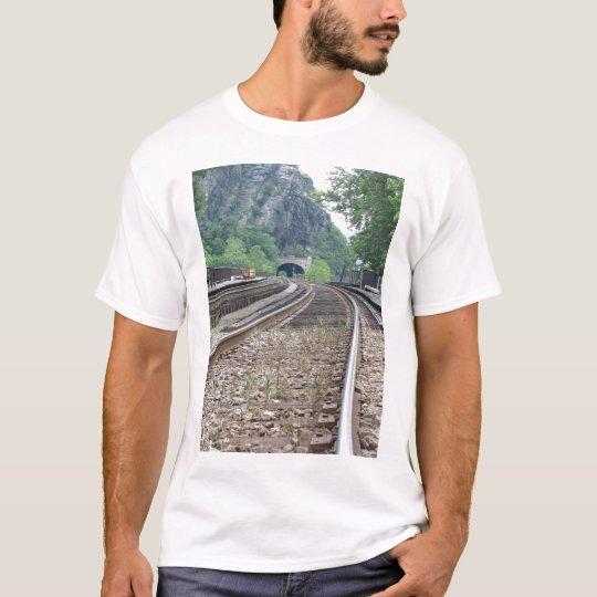 Harpers Ferry WV Railroad Tracks Tshirt