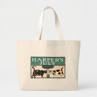 Harper's July Cats jumbo tote