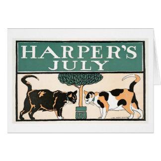 Harper's July Cats notecard