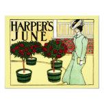 """Harper's June 4.25"""" X 5.5"""" Invitation Card"""
