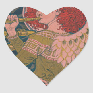 Harper's Magazine by Eugène Grasset Heart Sticker