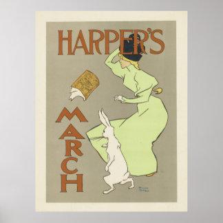 Harper's March Poster